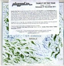 (CH309) Family Of The Year, St. Croix - 2011 DJ CD