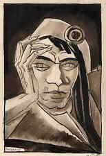 Portrait MARAT - EDY LEGRAND 1922 - RÉVOLUTION FRANCAISE - plume/aquarelle signé