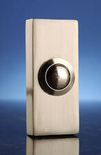 Byron 2204NI Wired Surface Mount Bell Push Button Polished Brushed Nickel New