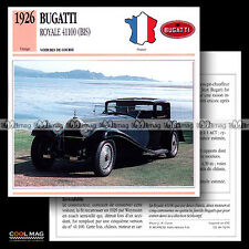 #092.01 BUGATTI ROYALE #41100 BIS (1926) - Fiche Auto Classic Car card