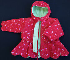 Marese designer baby coat jacket girl 6 months RED cherries