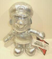 New World of Nintendo EXCLUSIVE Silver Metal Mario Plush