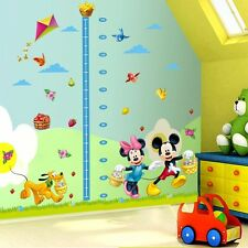 Mickey Minnie Mouse Height Chart Mural Wall Sticker Decal Kids Child Decor Vinyl