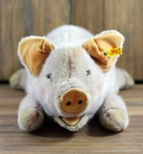 Steiff Pig Vintage 1963 stuffed animal 16 inch