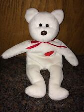 VALENTINO TY BEANIE BABY - NO TUSH TAG # - 1994 RARE - BROWN NOSE - BLACK EYES