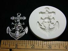 Anchor Pirate Skull Polymer Clay Mold (#MD1381)