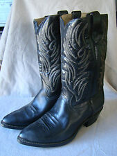 VTG Texas Brand Mens Cowboy Western Boots Black Style N5010 Size 11 EE 341607