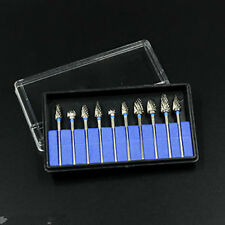 Dental Burs Lab 10pcs 2.35mm Tungsten Carbide Tungsten Steel Burs Tooth Drill