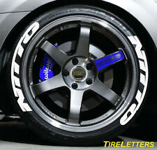 TIRE LETTERS - RAISED WHITE RUBBER LETTERING - nitto