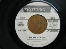 FRANK SINATRA 45 TOURS PROMO ITALIE MY WAY OF LOVE
