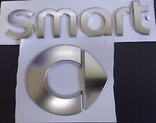 Set original smart Emblem Logo + Schriftzug Zeichen Aufkleber Silbern fortwo 451