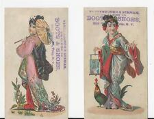 TRADE CARD-PAIR OF VANDERURCH & SEAMAN DEALERS IN BOOTS & SHOES, TROY, NEW YORK