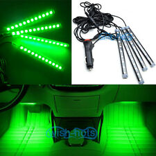 4Pcs Green LED Glow Lights Interior Under Dash Footwell Kit for Ford F-150 F150