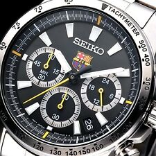 NEW MEN'S SEIKO BARCELONA CHRONOGRAPH ANALOG SPORTS WATCH SSB073P1