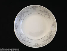 "Lynns Fine China OLIVIA Empress Gray White Flowers - 7-1/2"" COUPE SOUP BOWL"