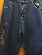Timberland Men's Clothing Classic Straight Leg Embroidery Jeans Size 40