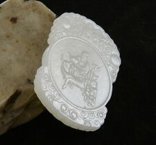 Nice  Hand  Carved  Chinese  Jade  Pendant   101