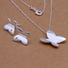 Flower Girls Jewellery Gift Set Necklace & Earrings 925 Sterling Silver Jewelry