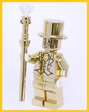 Mr. Gold Minifigure Golden Limited Series Collection Gift Blocks Brick for LE go