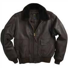 New Alpha Industries G-1 Goatskin Leather  Jacket Brown size MEDIUM