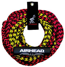 Airhead 2 rider tube tow rope 2 section waterski rope 60ft c/w rope tidy & float