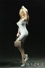 Custom 1/6 white Clothing Deep V Mini Skirt For Phicen Female Large Bust Figure