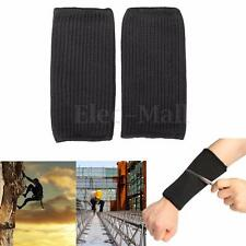 1 Pair Stainless Steel Wire Safety Sport Anti Cut Sleeve Wrist Protector Armband