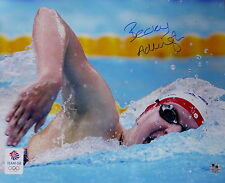 Rebecca Adlington Olympic Signed 16x20in Photo 'Golden Stroke'  *Ltd 21/200 *