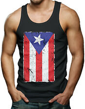 Puerto Rico Flag - Distressed Country Pride Men's Tank Top T-shirt