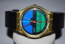 1986 Swatch Watch GK-102 NAUTILUS Mario Fani Design RARE Thin Hands Variation