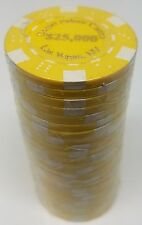 Poker Chips (25) $25,000 Desert Palace 11.5 gram Clay Composite FREE SHIPPING *