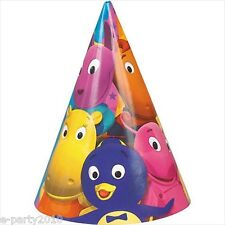 BACKYARDIGANS CONE HATS (8) ~ Birthday Party Supplies Paper Favors Nick Jr Pablo