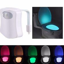 8 couleurs humain détecteur de mouvement automatique sièges lumière led toilet bowl salle de bain lampe
