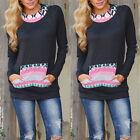 Casual Womens Pullover Jumper Hoodie Long Sleeve Hooded Coat Sweatshirt Top