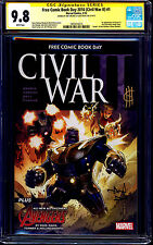 Civil War II #1 FCBD CGC SS 9.8 signed Jim Cheung & Alan Davis DEATH WAR MACHINE