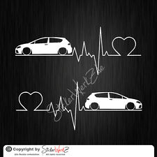 0656 | Herzschlag Leon 1P Satz Aufkleber | Sticker Seat
