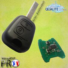 CLE TELECOMMANDE PLIP PEUGEOT 106 206 207 307 407 - COMPLETE AVEC ELECTRONIQUE