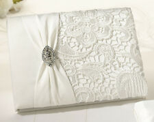 Cream Lace  Off white Guest Book and Pen set wedding book Vintage Wedding