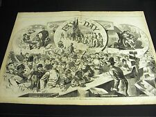 Winslow Homer PAY-DAY ARMY of POTOMAC Money Home 1863 Large Civil War Engraving