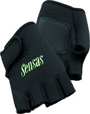 SENSAS NEOPRENE MITTENS FINGERLESS SHIPPING GLOVES CARP POLE FISHING BAITING