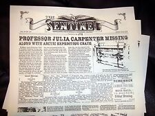 CREEPSHOW prop Vintage Horror Newspaper from THE CRATE with FLUFFY the Monster
