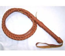 Bull Whip Real Leather Tan Color BULLWHIP 6 Ft 4 Plait Be Rodeo Western Cowboy