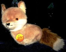 "Steiff - ""Snuffy the Fox"" at  7"" in height with Tag & Button"