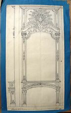 Dessin Ancien 1814 Projet de Cheminée Ferranti 1814 Old Drawing