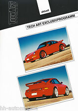 Bild-Prospekt Porsche 911 Turbo TechArt Exclusivprogramm 1994 Auto Pkw int Nr 2