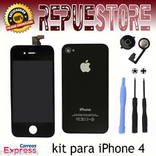IPHONE 4 Kit Full Screen Complete LCD Top rear Button Home Tools