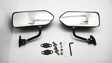 Custom GP Carbon Race Small Mirrors Auto/Bike F1 Type Kit Side Wing Pair RH+LH