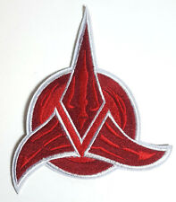 "Star Trek Red Klingon Logo  6"" Embroidered Jacket Patch- FREE S&H (STPAT-56)"