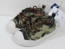 New Oshkosh Boy's $30 Westley Brown Khaki CAMO Athletic Sneakers Shoes, Sz 4