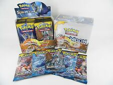5x Pokemon Sun and Moon BOOSTER PACKS - 50 cards Pokèmon tcg cards  SEALED NEW
